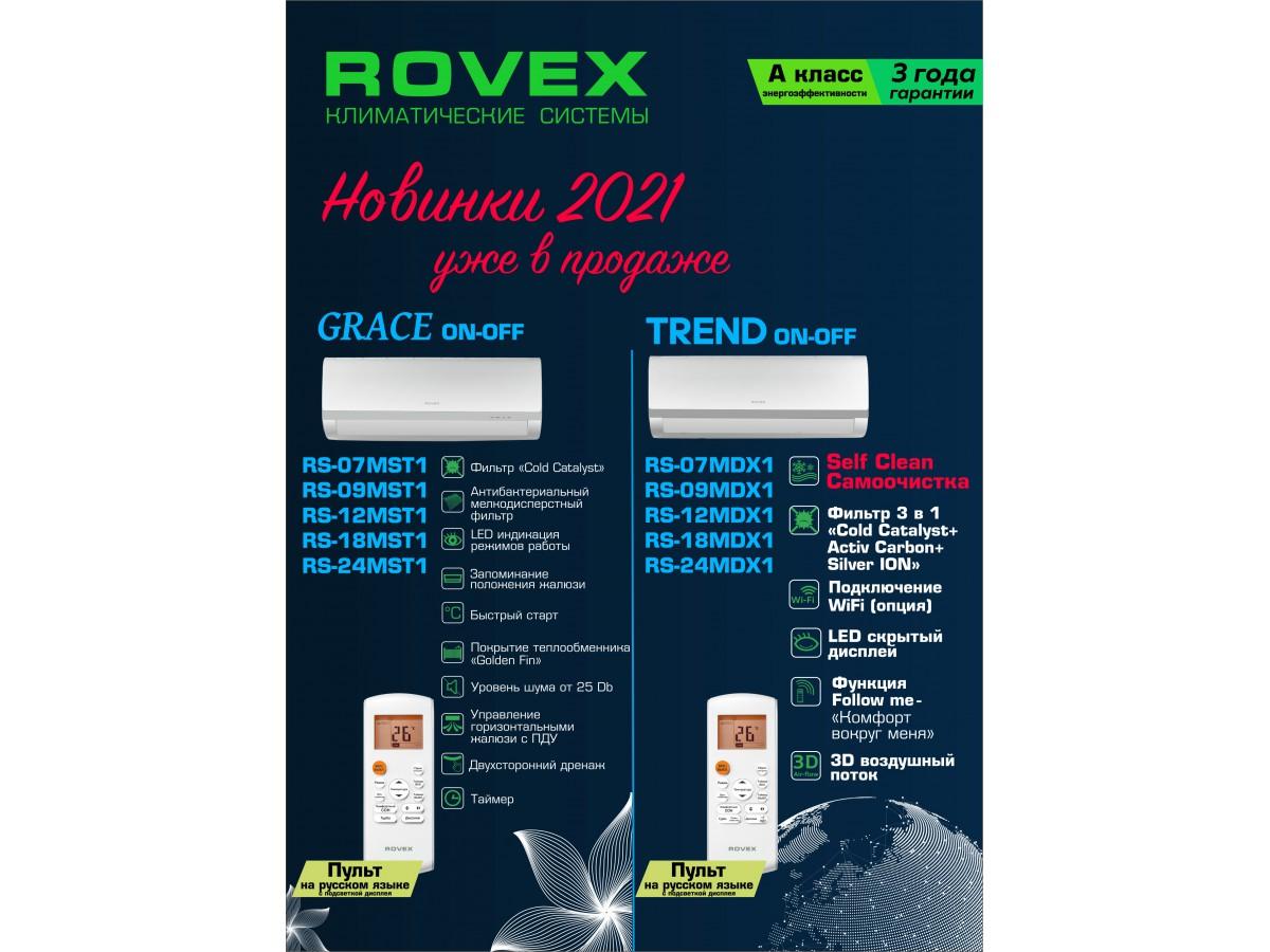 Сплит-системы Rovex - новинки.